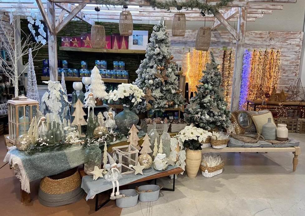 Adornos blancos Navidad
