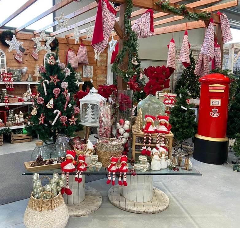 Adornos rojo Navidad